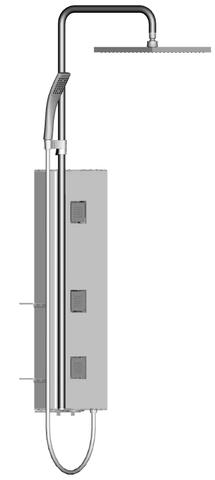 Душевая башня Jacob Delafon WATER TILES TOWER E3872-185