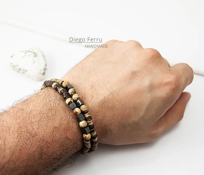 BS769 Эксклюзивный браслет ручной работы Diego Ferru, коллекция ETHNO фото 06