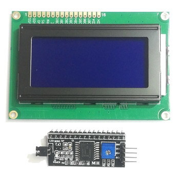 Дисплей LCD1604A + 1602 LCD конвертер в IIC/I2C