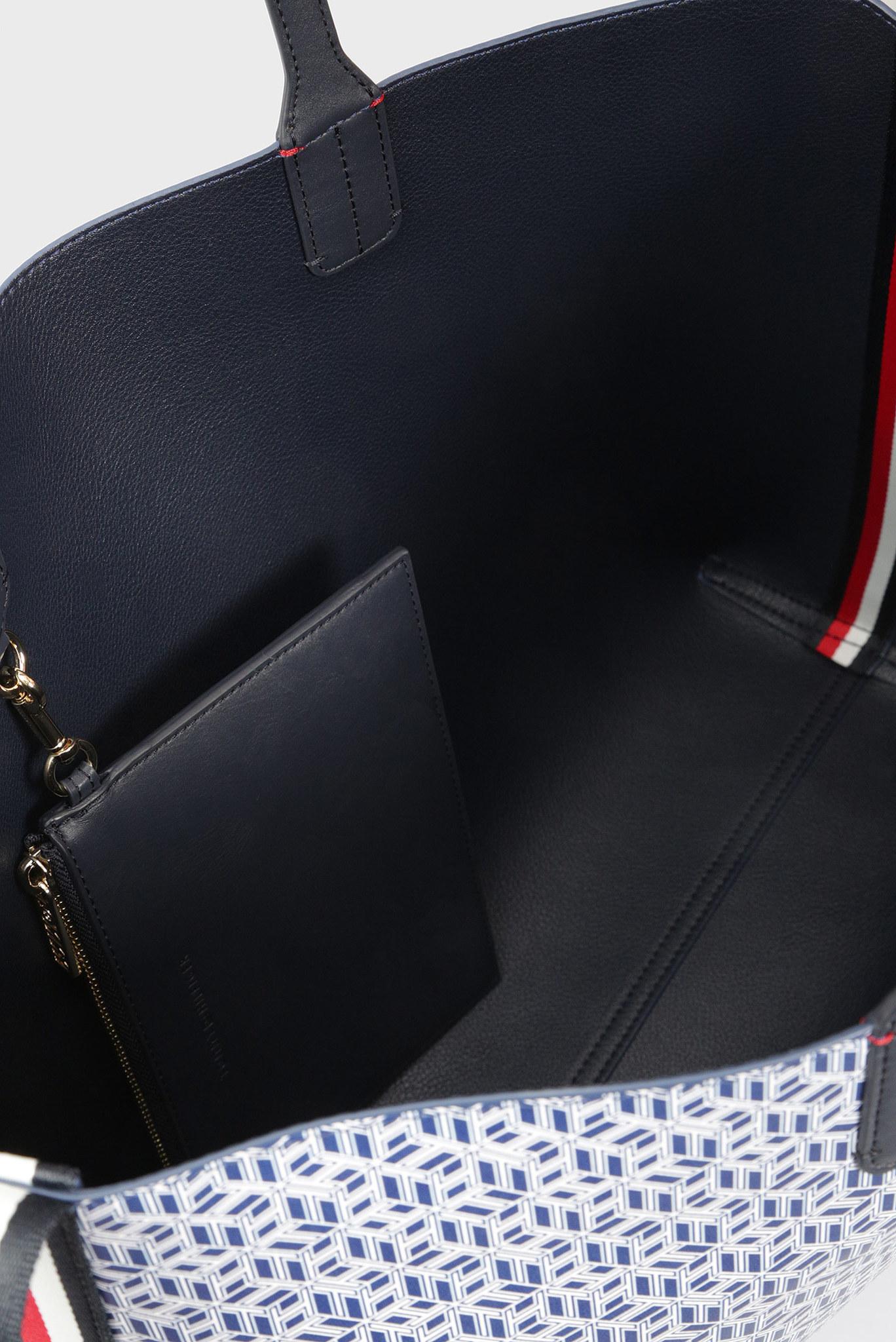 Женская сумка на плечо ICONIC TOMMY TOTE MONOGRAM Tommy Hilfiger