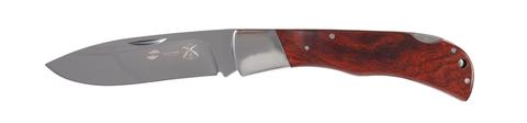 Нож Stinger, 104 мм, рукоять: сталь/дерево, серебр.-корич., картонная коробка