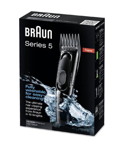 Машинка для стрижки Braun HC 5050, аккум/сетевая, 2 насадки, черная