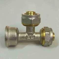 тройник обжимной для металлопластиковых труб