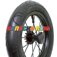 Колесо для коляски металл подшипник черное надув 12 1/2х2 1/4 (62-203) №003060 ЧЕРНЫЙ ДИСК С ТОРМОЗНОЙ ШЕСТЕРЕНКОЙ