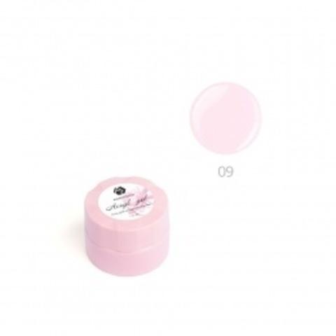 Акригель для наращивания ногтей ADRICOCO №09 камуфлирующий кремовый розовый (10 мл.)