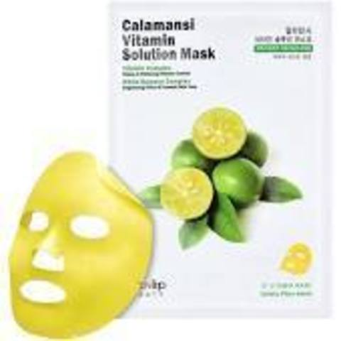 Eyenlip Маска для лица тканевая витаминная Calamansi Vitamin Solution Mask, EYENLIP 25 мл