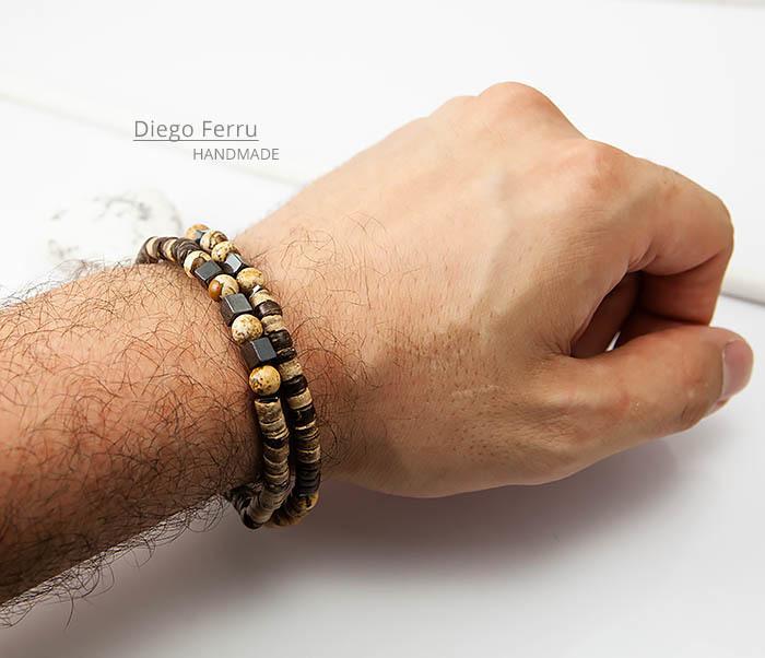 BS769 Эксклюзивный браслет ручной работы Diego Ferru, коллекция ETHNO фото 07