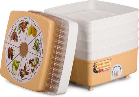 Сушка для фруктов и овощей Ротор Дива-Люкс СШ-010-01 3под. 520Вт белый