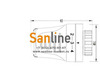 """Термостатическая головка под защелку """"CLICK""""  Sanline с жидкостным датчиком Арт.TH-DF"""