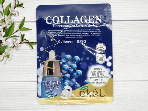 538808 EKEL Тканевая маска для лица с коллагеном Collagen