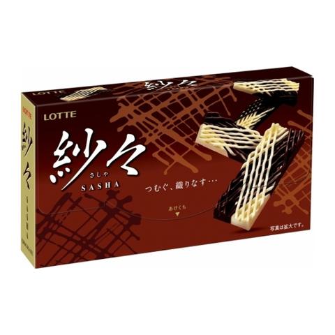Шоколад Лотте Lotte Sasha с белым и молочным шоколадом 69 гр