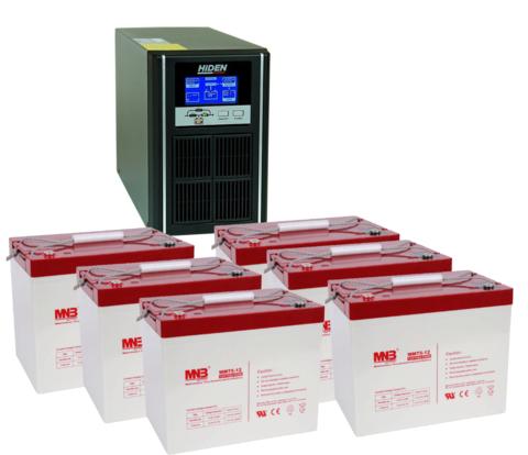 Комплект ИБП UDC9203H-АКБ MM75 (72в, 2400Вт)