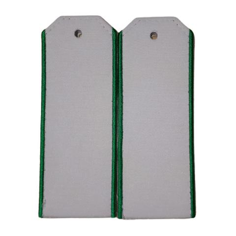 Погоны белые с зеленым кантом