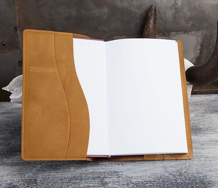 BY05-15-02 Кожаный ежедневник в красивой обложке «Волк», тиснение (А5) фото 05
