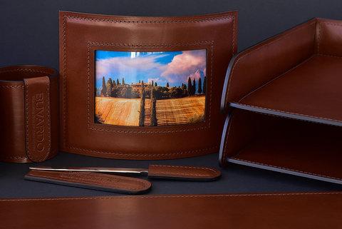 Рамка для фотографий DE LUXE из кожи Full Grain Toscana Tan