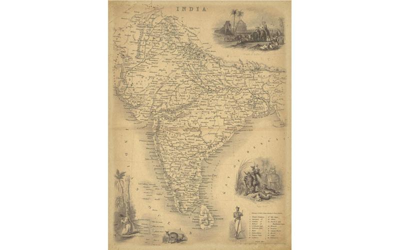 Рисовая бумага для декупажа Карта Хинду, А3