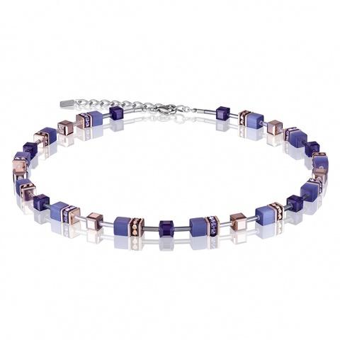Колье Coeur de Lion 4016/10-0800 цвет фиолетовый, синий
