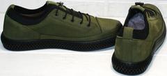 Стильные туфли кроссовки демисезонные мужские Luciano Bellini C2801 Nb Khaki.