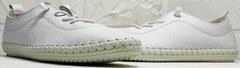 Спортивные туфли мокасины женские Rozen 115 All White.