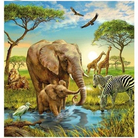 Картина раскраска по номерам 40x50 Дивный животный мир