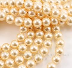 5810 Хрустальный жемчуг Сваровски Crystal Light Gold круглый 8 мм , 5 шт