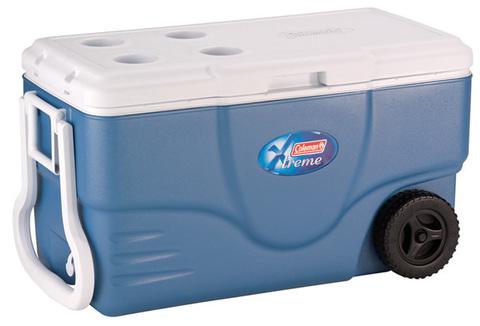 Изотермический контейнер (термобокс) Coleman 100 Qt Xtreme Wheel (96 л.), голубой