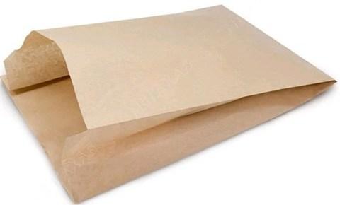 Пакет бумажный 250х82х390 мм  с плоским дном крафт40