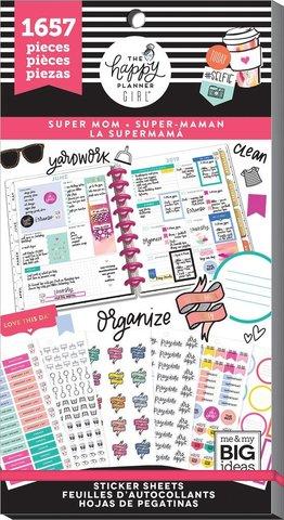Блокнот со стикерами для ежедневника Create 365 Happy Planner Sticker -Super Mom- 1657шт