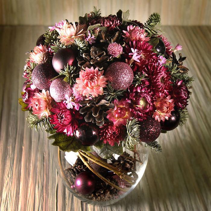 Зимний букет невесты из сухоцветов заказать в Перми