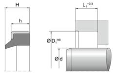 Грязесъемник AM44 | 95 TPU PU953401 Blue | 30 X 40 X 5 MM