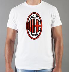 Футболка с принтом FC ACM Milan (ФК Милан) белая 004