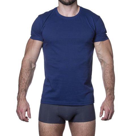 Мужская футболка синяя Sergio Dallini SDT750-4