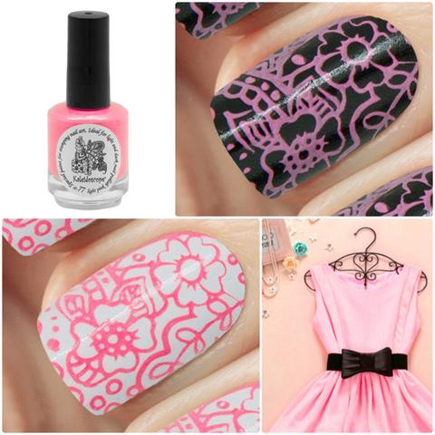 Kaleidoscope Лак для стемпинга №st-77 Light pink 15 мл