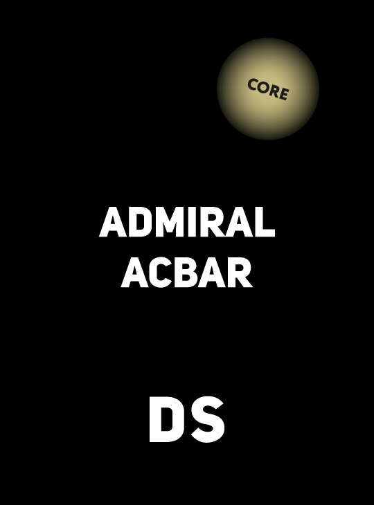 Accessory DS CORE ADMIRAL ACBAR CEREAL 250
