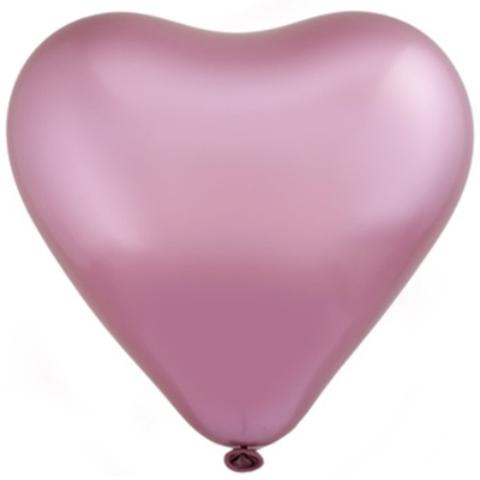 Сердце Хром Сатин Flamingo 12