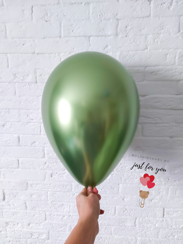 Воздушный шар лайм хром