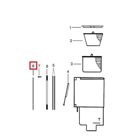 Лицевая декоративная накладка для скиммера Hayward ECO под бетон / 23049