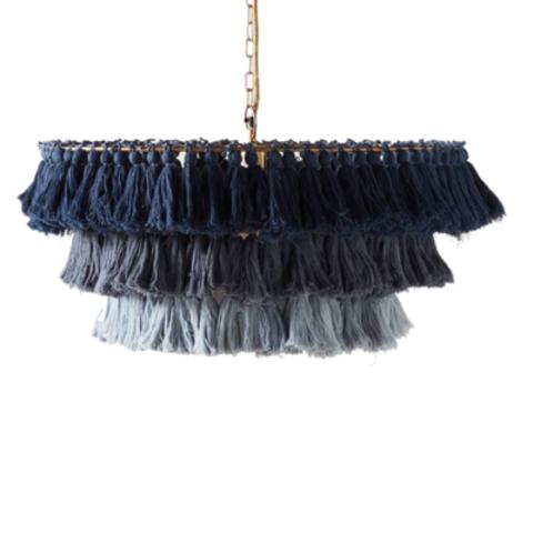 Подвесной светильник копия Fela Tasseled by Justina Blakeney (синий)