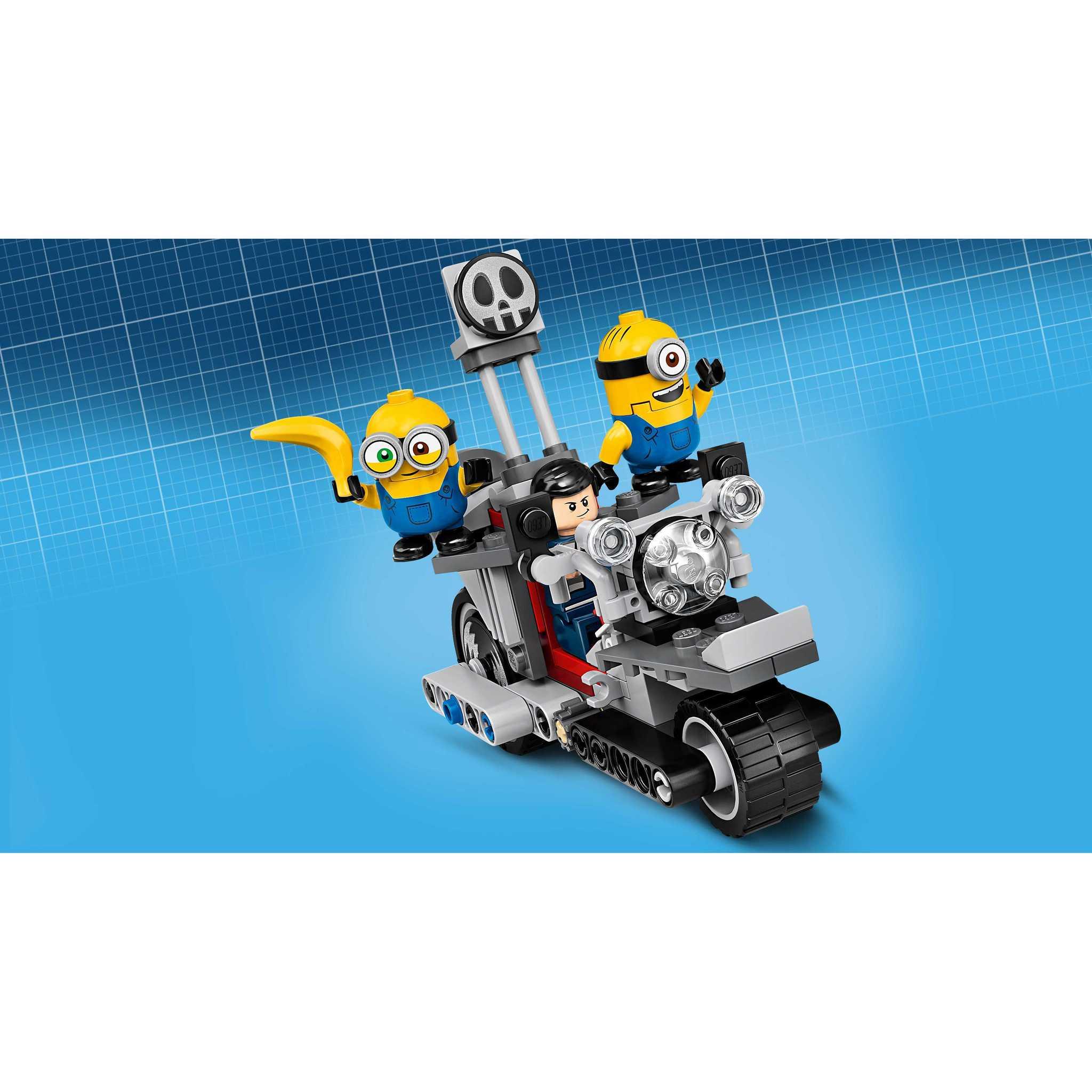 LEGO MINIONS 75549 Конструктор ЛЕГО Миньоны Невероятная погоня на мотоцикле