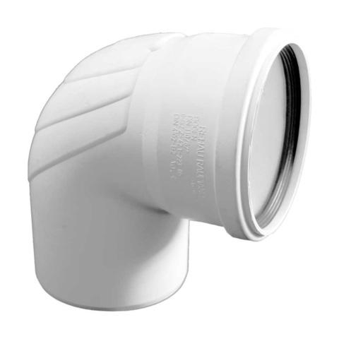 Rehau Raupiano Plus d 110 мм 87° отвод для канализационных труб (11234641001)