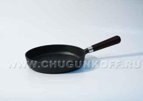 Сковорода термообработанная D=22 см., H=4 см. с ручкой
