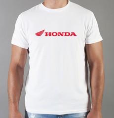 Футболка с принтом Honda (Хонда) белая 08