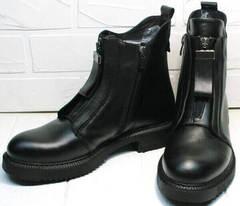 Женские черные модные осенние ботинки Tina Shoes 292-01 Black.