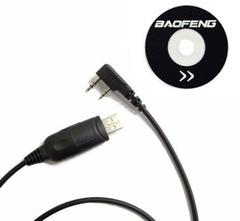 USB кабель и CD диск для программирования раций Baofeng и Kenwood