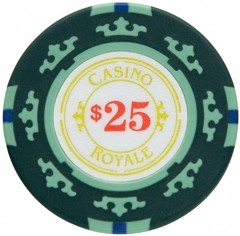 Набор для покера Casino Royale на 300 фишек - фишка номиналом 25