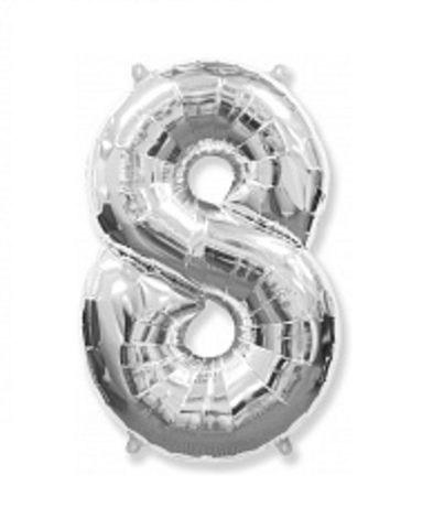 Цифра восемь - серебро