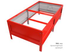 Оцинкованная грядка усиленная с полимерным покрытием RAL 3020 транспортный красный