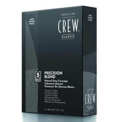 American Crew Precision Blend:Камуфляж для седых волос - темный натуральный тон 2-3 (Natural Gray Coverage Gray Dark), 3*40мл