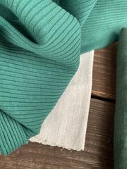 Трикотаж-лапша, Насыщенный зеленый