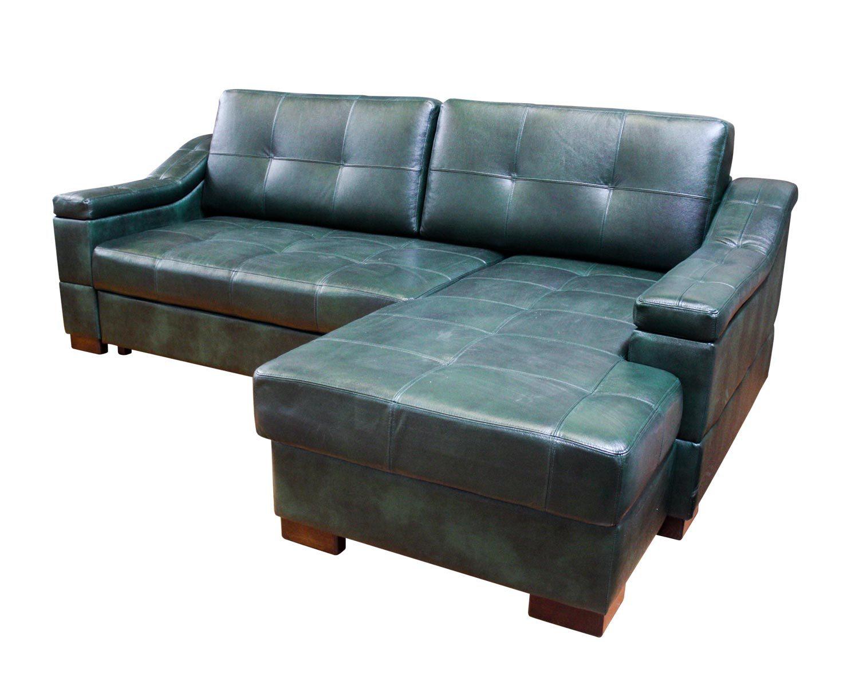 Угловой диван Макс П5 2д1я, обивка натуральная кожа